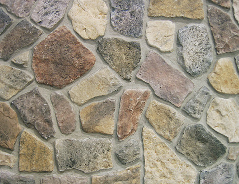 Country Fieldstone, decorative stone, light concrete stone, pierre decorative