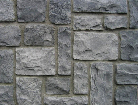 Cobblestone decorative stone from light concrete for construction architecture home design for Pierre decorative murale